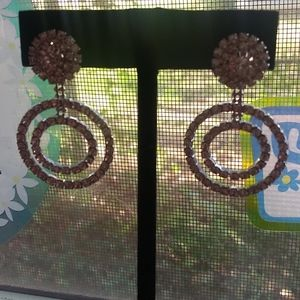 Claire's Silver Circle Post Earrings
